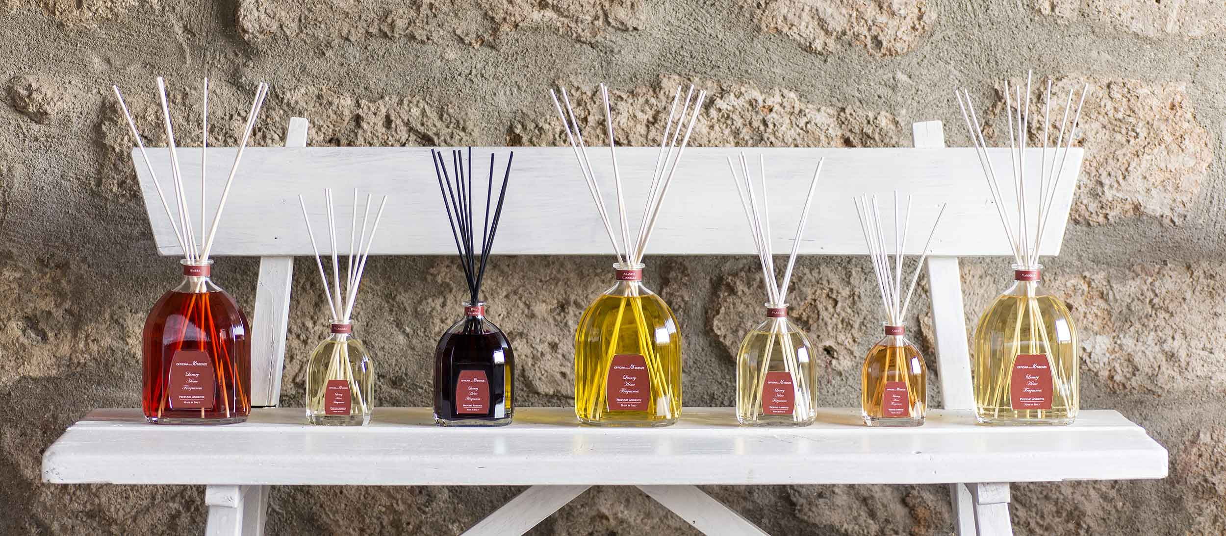 Home perfumes with rattan reeds