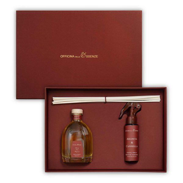 Scatola regalo con diffusore ambiente e profumo spray di Officina delle Essenze