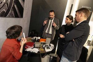 Maurizio Lembo parla con distributori ad Esxence 2019: The Inspiration Flow