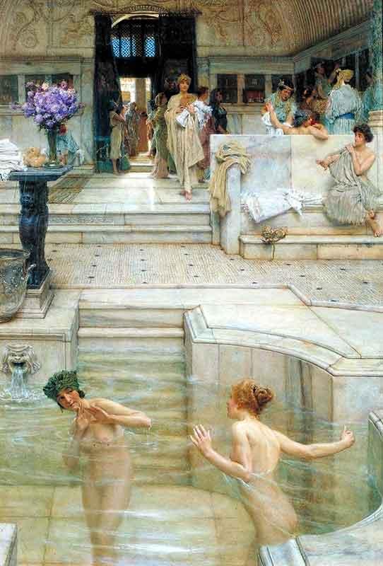 Donne romane nei bagni di Pompei