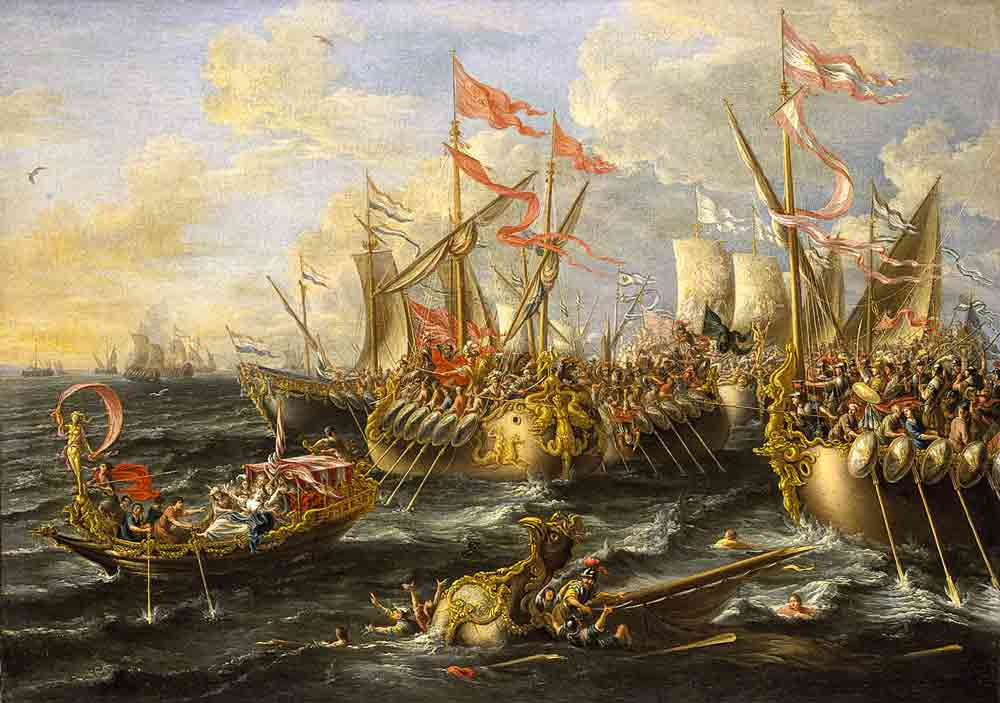 Le navi di Cleopatra con vele profumate