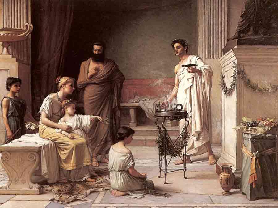 Sacerdote romano brucia degli unguenti