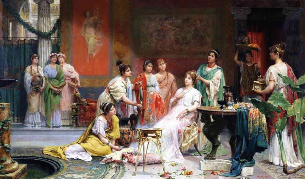 Roman matron with perfumes in her hair