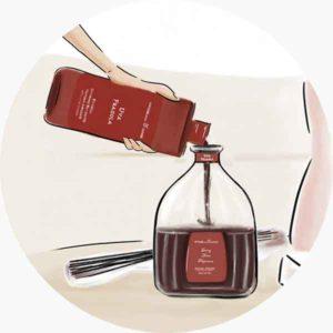 Mantieni alto il livello della fragranza nel diffusore grazie alle comode ricariche da 500 e 1250 ml