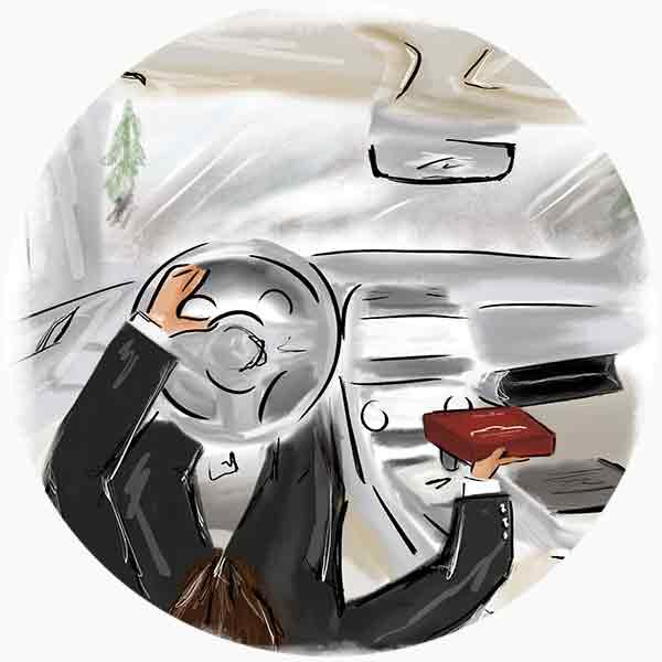 Dopo l'utilizzo, conserva il Car Fragrance Kit all'interno del porta oggetti