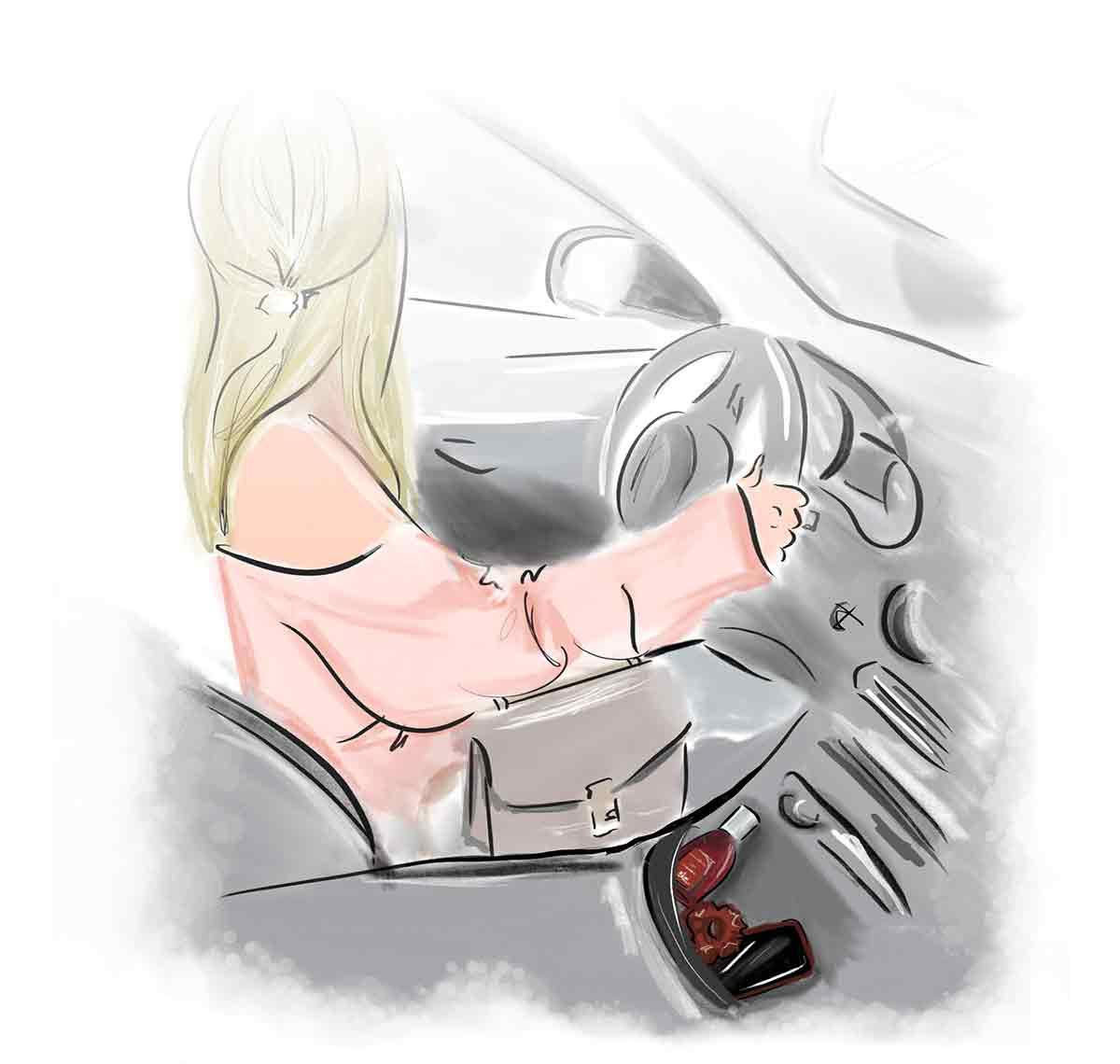 Al volante della propria auto