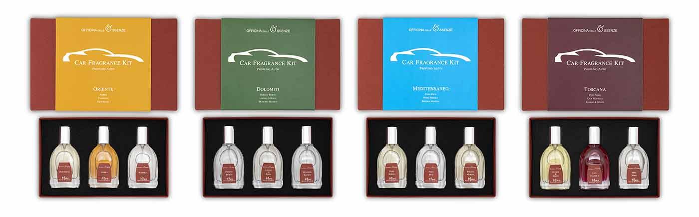 Car Fragrance kit set di profumi viaggio